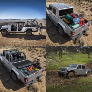 Silver Jeep JT Gladiator : Official FCA Press Release Photos