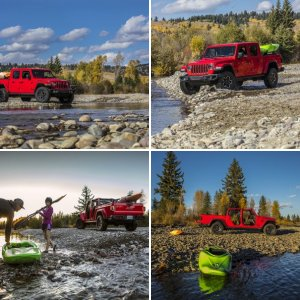 Red Jeep Gladiator Overland : Official FCA Press Photos